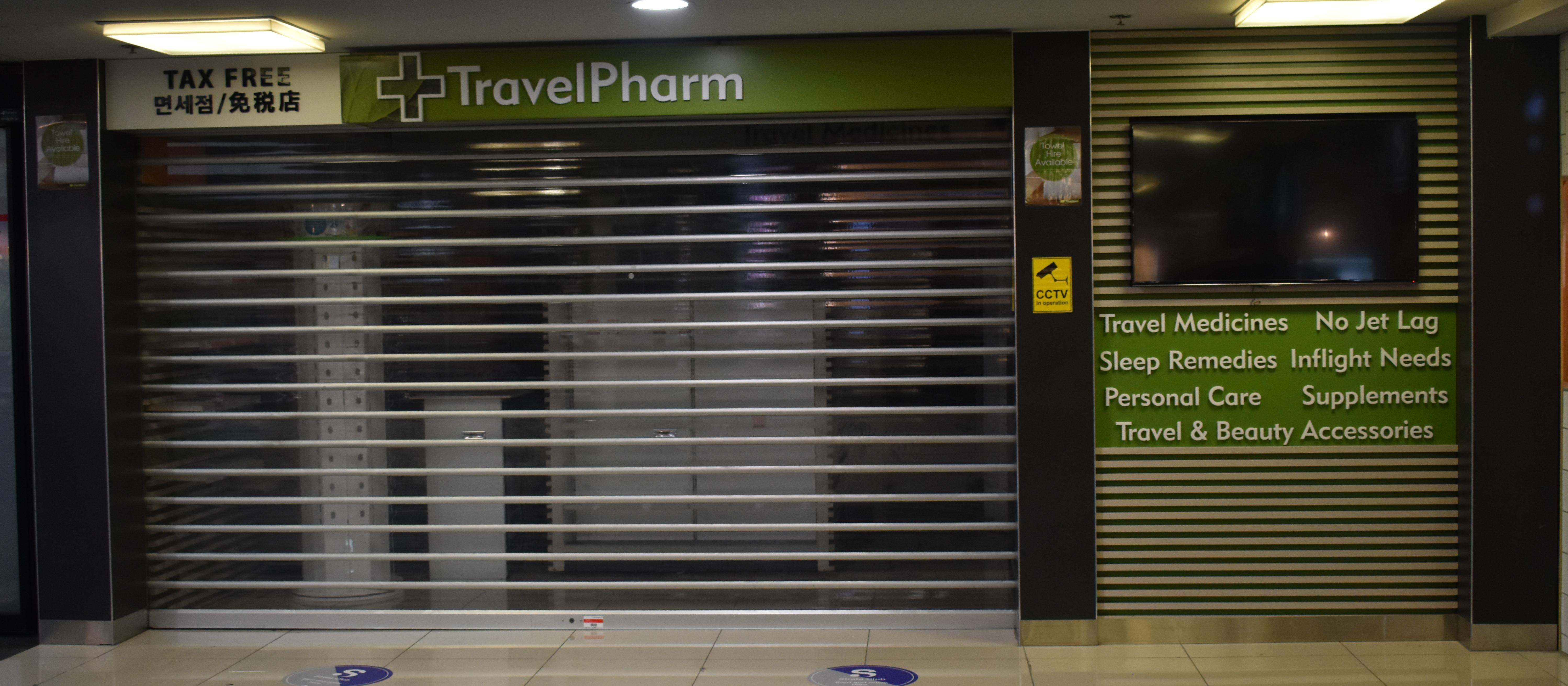 TravelPharm Auckland domestic airport closed