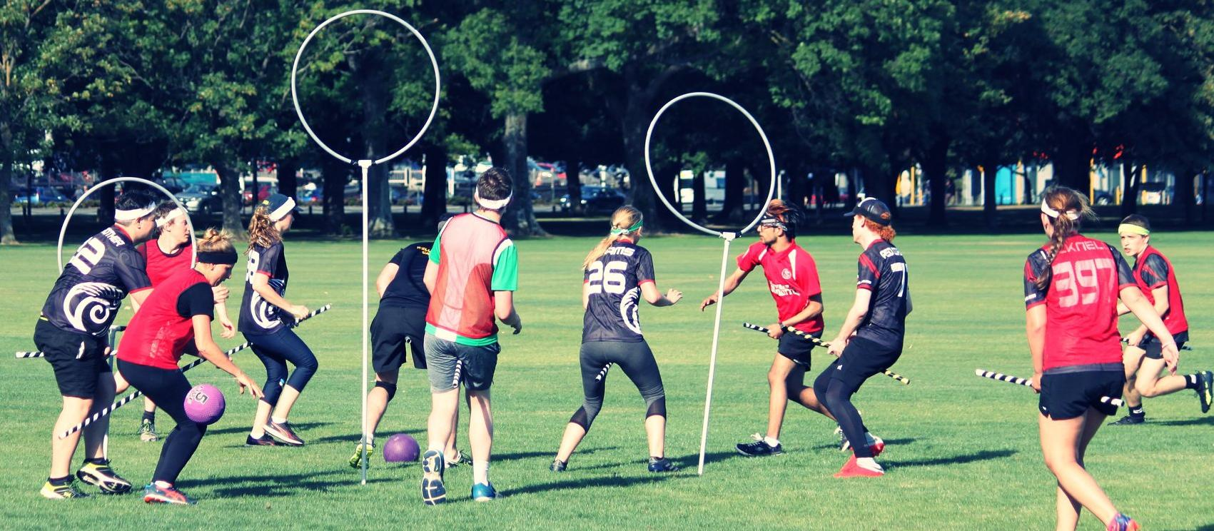 A game of muggle quidditch