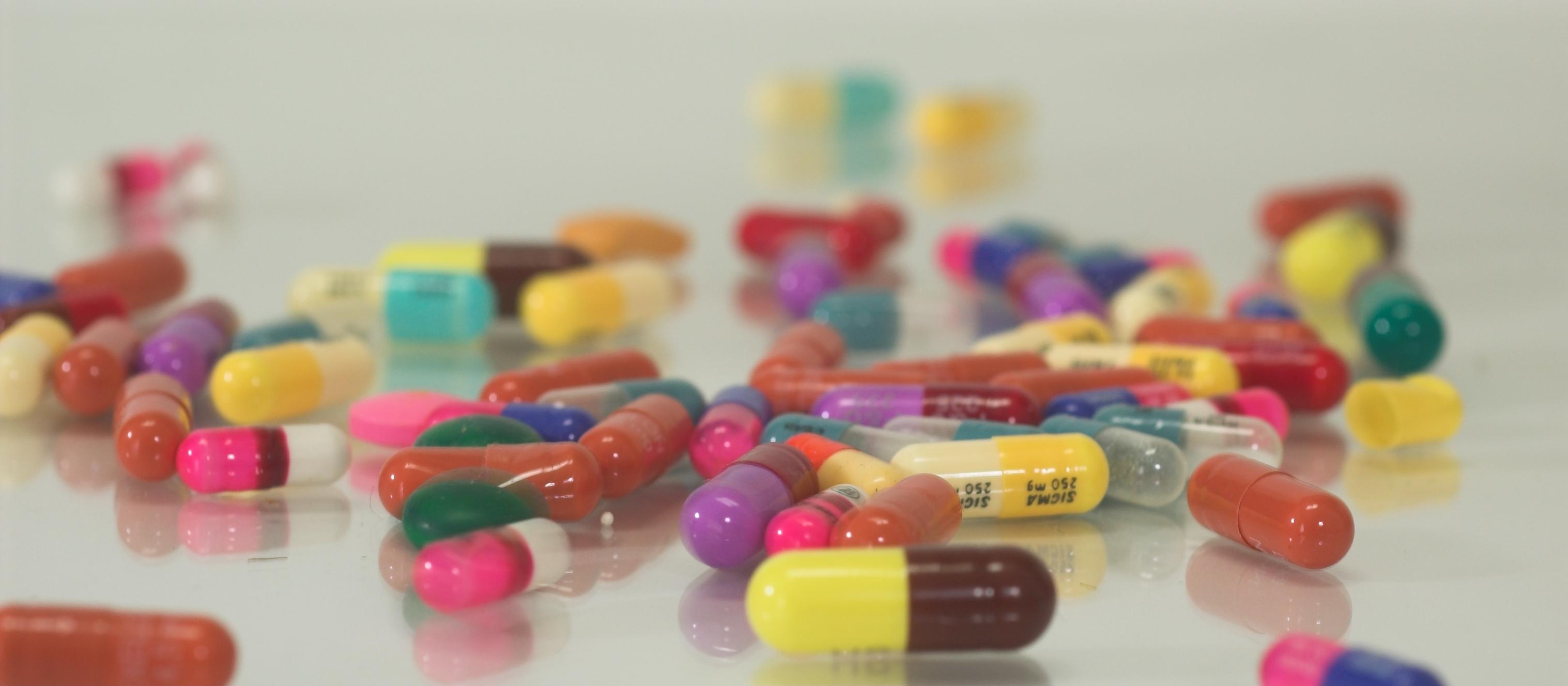 Colourful pills