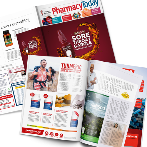 Print ads in Pharmacy Today