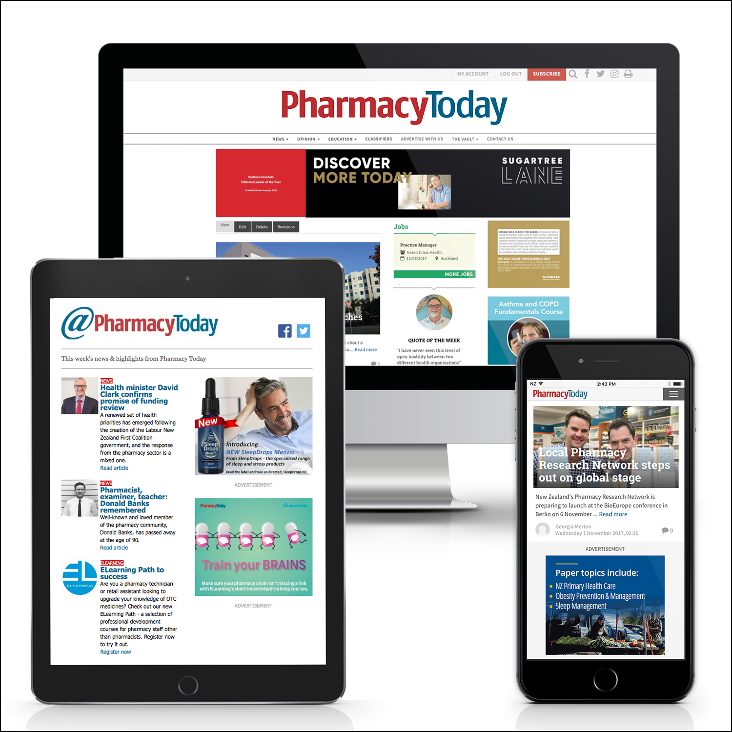 Pharmacy Today digital ads examples