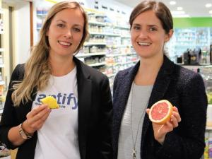 Local GP Dr Taisia Cech and Hannah O'Malley at Life Pharmacy Prices