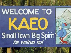 Welcome sign to Kaeo