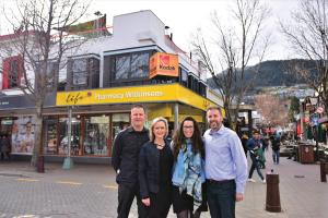Wilkinsons Pharmacy Queenstown_Tim and Bronwen Judkins, Tiffany and Glenn Mitchell