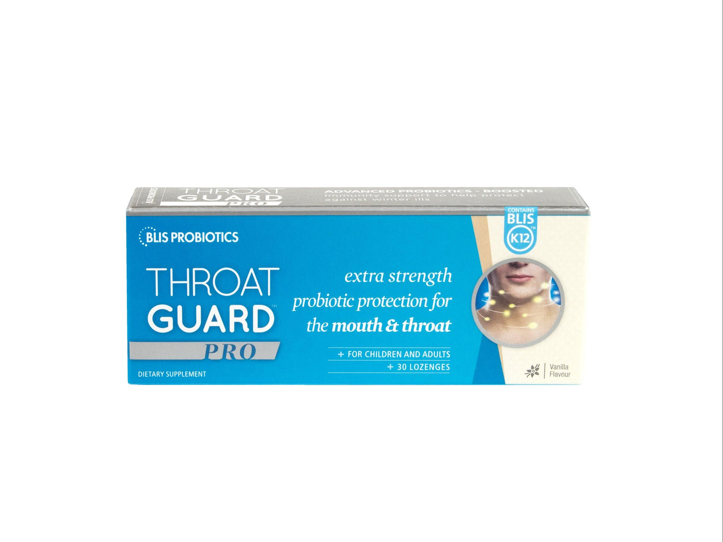 Throat guard box