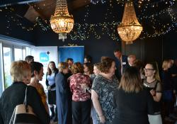 The event was held at the Foxtail Champagne and Cocktail Bar in Wellington