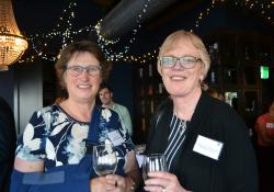 Pharmacy Guild board member Kathy Maxwell and MidCentral Community Pharmacy Group's Clare Hynd