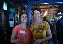 Pharmaceutical Society's college education and training programme manager Shirena Vasan and guild board member Catherine Keenan