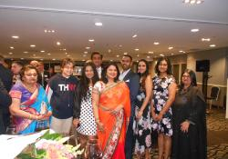 Sandy Bhawan with family and friends: Aruna Virendra, Aryav Bhawan, Mysha Bhawan, Sanjay Bhawan, Vincent Virendra, Vandy Naleca, Camella Virendra and Monica Sharma