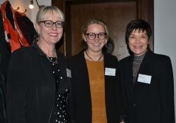 Ministry of Health chief advisor pharmacy Andi Shirtcliffe, ministry immunisations principal adviser Sarah Emerson and ministry immunisations manager Kath Blair