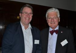 Pharmacy Guild chief executive Andrew Gaudin and retired politician Peter Dunne