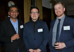 Sanjay Bhawan, Pharmac therapeutic group manager Peter Yoo and PSNZ co-opted early career pharmacist Michael Hammond