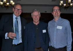PSNZ national executive Graeme Smith, John Allen of Open Polytechnic and PSNZ practice and policy manager Chris Jay